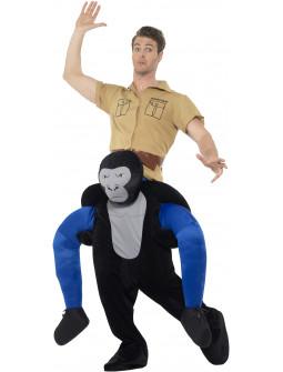 Disfraz de Gorila con Explorador a Hombros