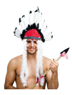 Penacho de Plumas de Jefe Indio