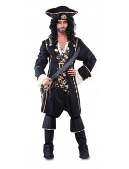Disfraz de Capitán Pirata Negro para Hombre