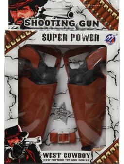 Pistolas con Balas y Estrella de Sheriff