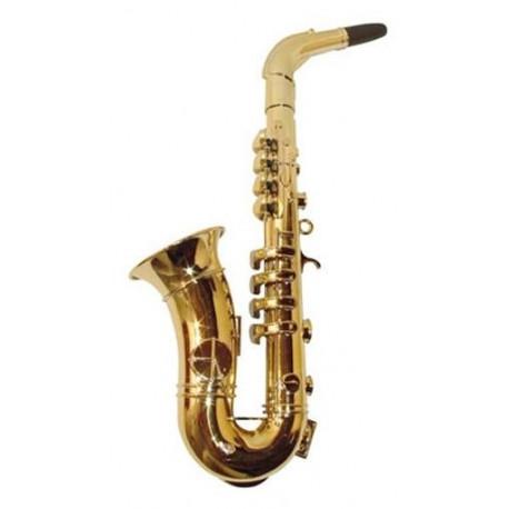 Saxofón Dorado con 8 Notas