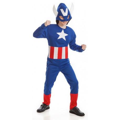 Disfraz de Capitán América Económico para Niño