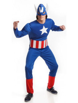 Disfraz de Capitán América Económico para Adulto