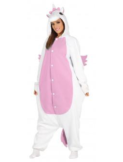 Disfraz de Unicornio Rosa Pijama para Adulto