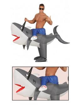 Disfraz a Hombros de Tiburón Hinchable