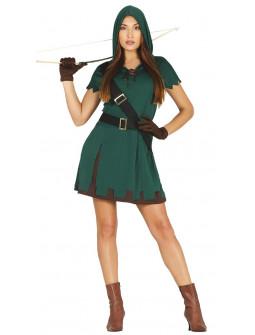 Disfraz de Cazadora del Bosque para Mujer