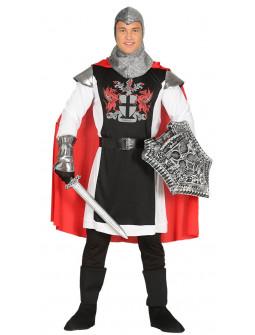 Disfraz de Caballero Medieval con Capa para Hombre