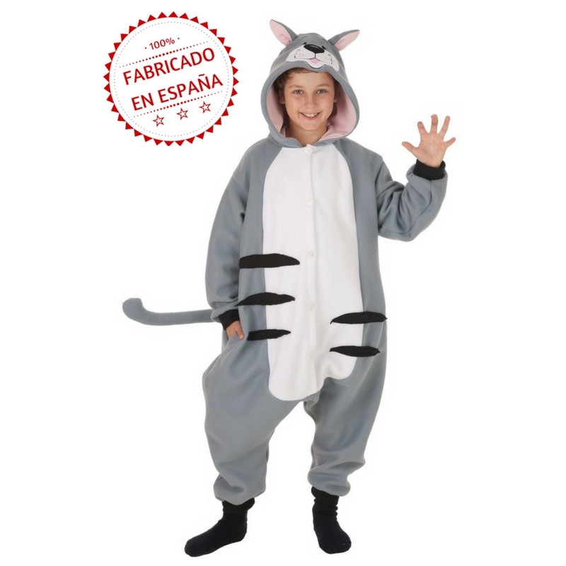 3e26b862d1 Disfraz de Gato Estilo Pijama para Niños