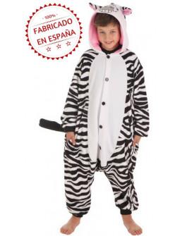 Disfraz de Cebra Pijama para Niños