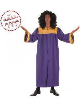 Disfraz de Coro Gospel Morado y Dorado para Adulto