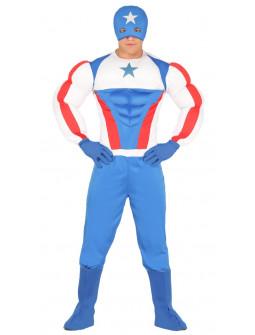 Disfraz de Capitán América Musculoso para Adulto