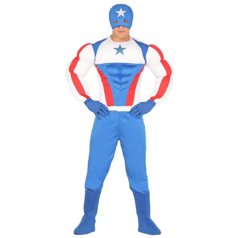 Disfraz de Capitán Estrella Musculoso para Adulto   Comprar