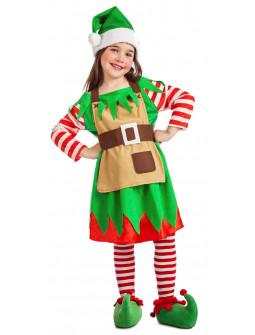 Disfraz de Ayudante de Papá Noel para Niña