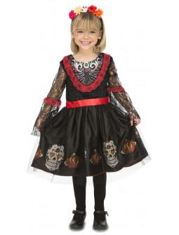 Disfraz de Catrina Mexicana para Niña
