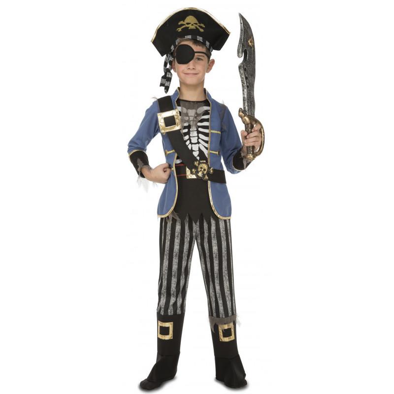 274a8ae77 Disfraz de Pirata Esqueleto para Niño
