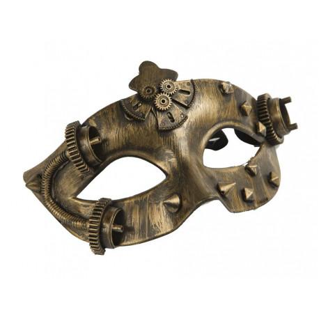 Antifaz Steampunk Dorado