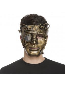 Máscara de Robot Steampunk Dorada