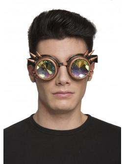 Gafas Steampunk Doradas con Pinchos