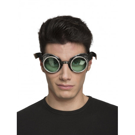 Gafas Steampunk Negras Envejecidas
