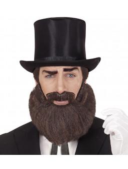 Barba y Bigote Castaños con Volumen