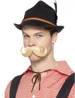 Sombrero Tirolés Negro con Pluma