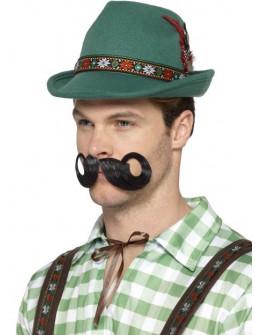 Sombrero Tirolés Verde con Pluma