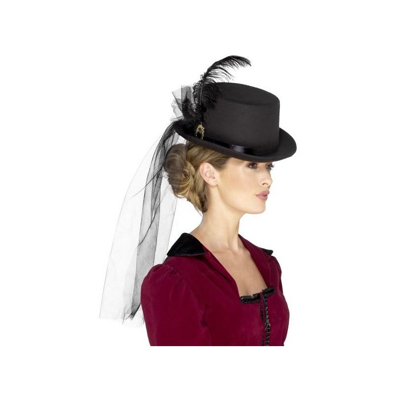 Sombrero Victoriano de Copa para Mujer  209221c7613