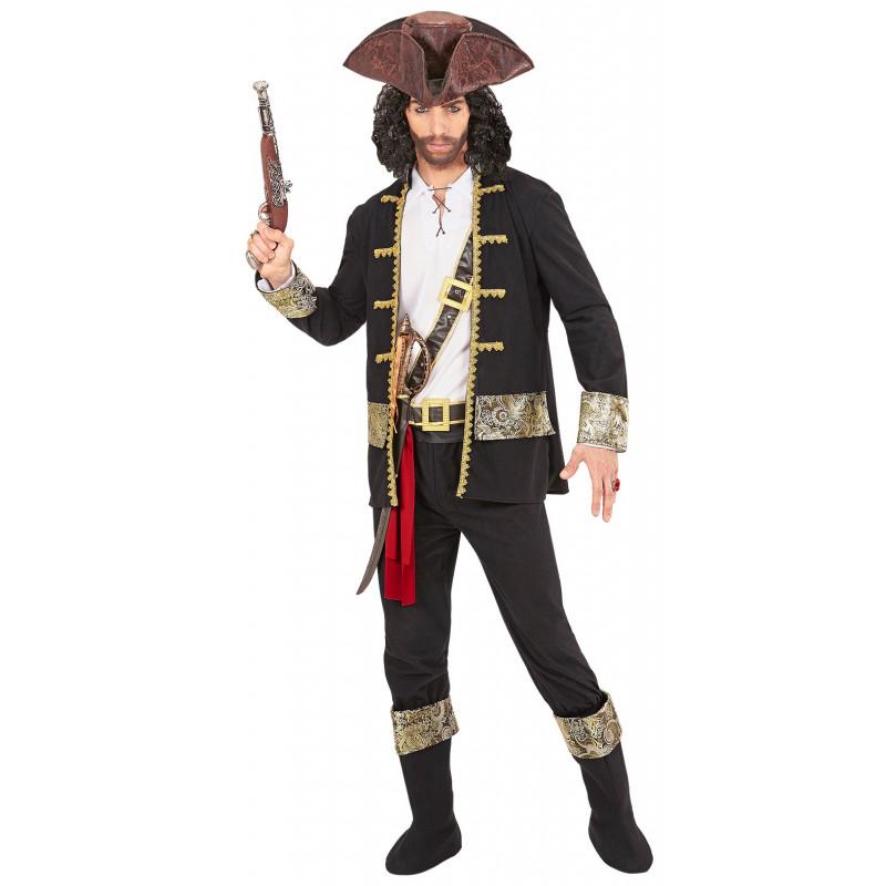 25ec96db6ce Disfraz de Pirata Negro para Hombre