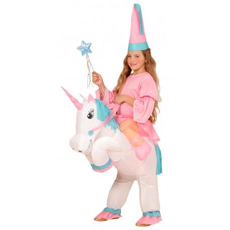 Disfraz de Hada en Unicornio Hinchable Infantil