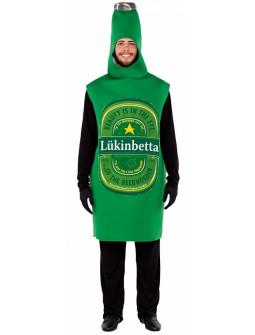 Disfraz de Botella de Cerveza Verde para Adulto