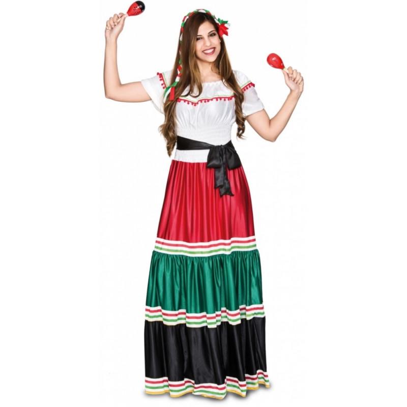 De Mexicana Para Disfraz Mujer Tradicional R77gn