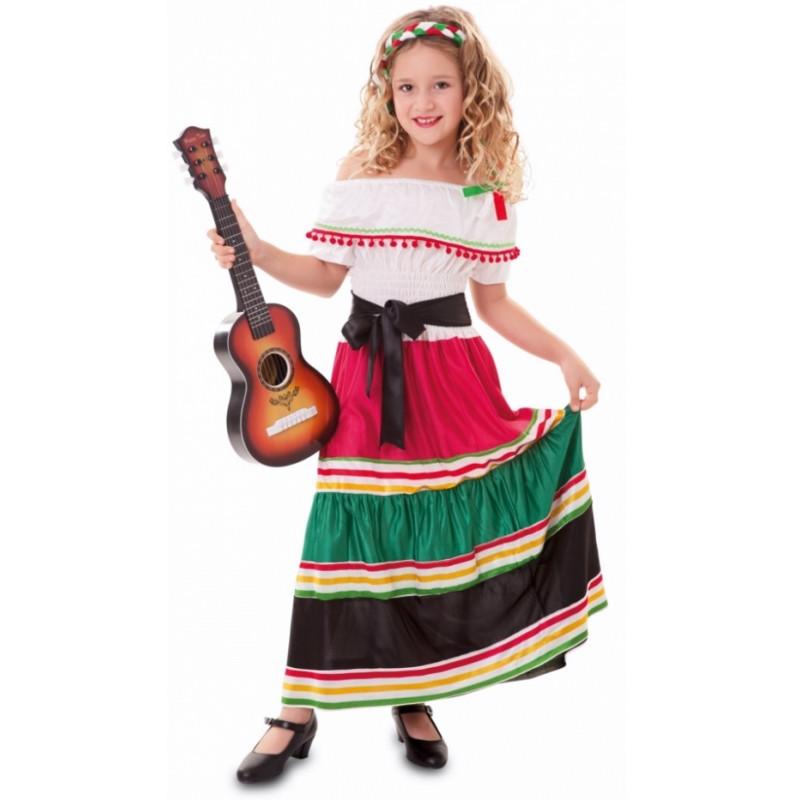 5e20bf4bffc9e Disfraz de Mexicana Tradicional para Niñar