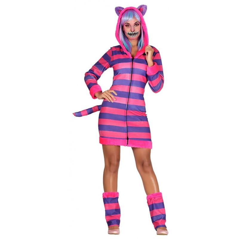 Disfraz de gato cheshire de alicia para mujer comprar - Disfraces de gatos para ninos ...