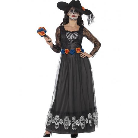 Disfraz de Novia Catrina Largo para Mujer