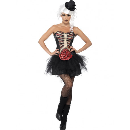 Corset Burlesque Esqueleto Grotesco para Mujer