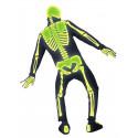 Disfraz de Esqueleto Fluorescente para Adulto