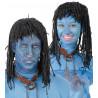 Peluca de Avatar Morena con Trenzas