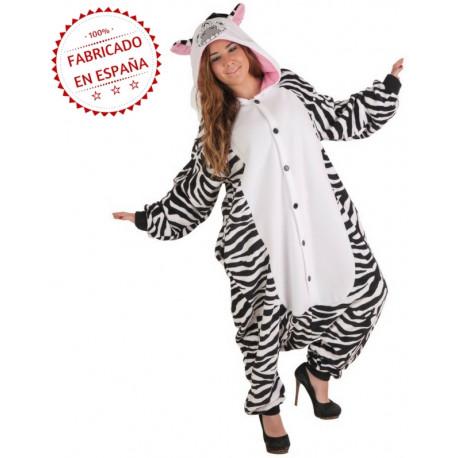Disfraz de Cebra Pijama para Adulto