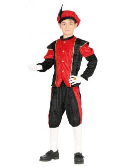 Disfraz de Paje de los Reyes Magos Rojo Infantil