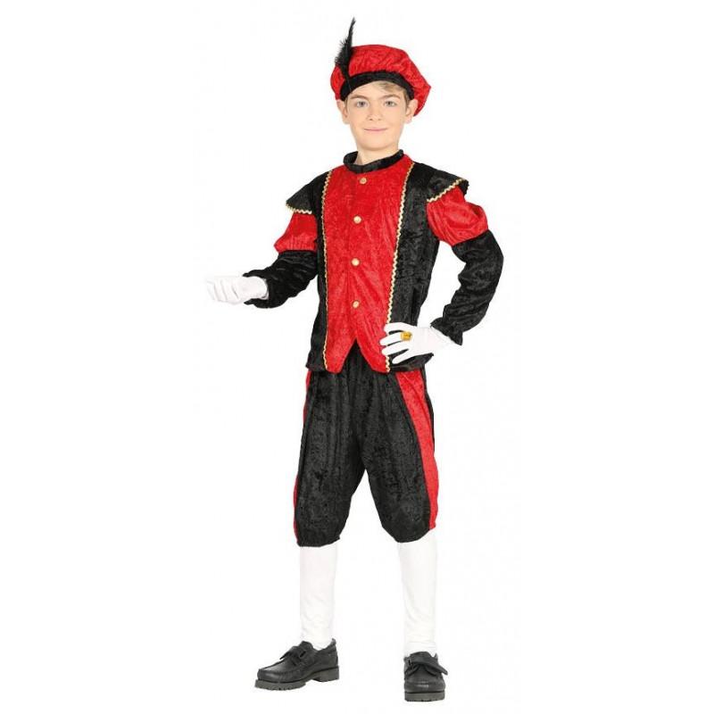 disfraz de paje de los reyes magos rojo infantil comprar