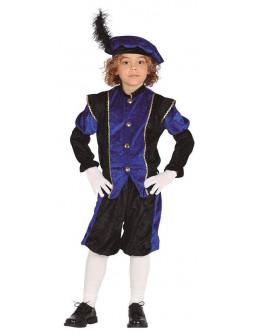 Disfraz de Paje de los Reyes Magos Azul Infantil