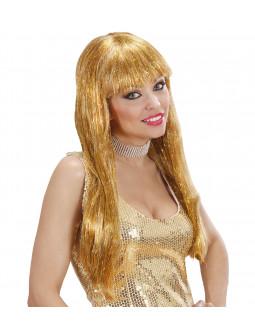 Peluca mechas doradas
