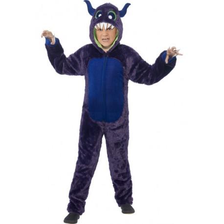 Disfraz de Monstruo Azul con Cuernos Infantil