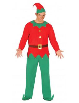 Disfraz de Elfo Navideño para Hombre