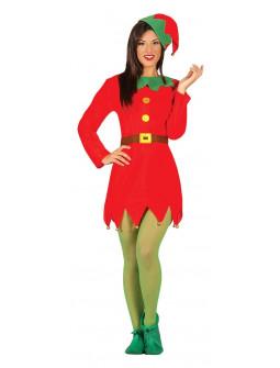Disfraz de Elfa Navideña para Mujer