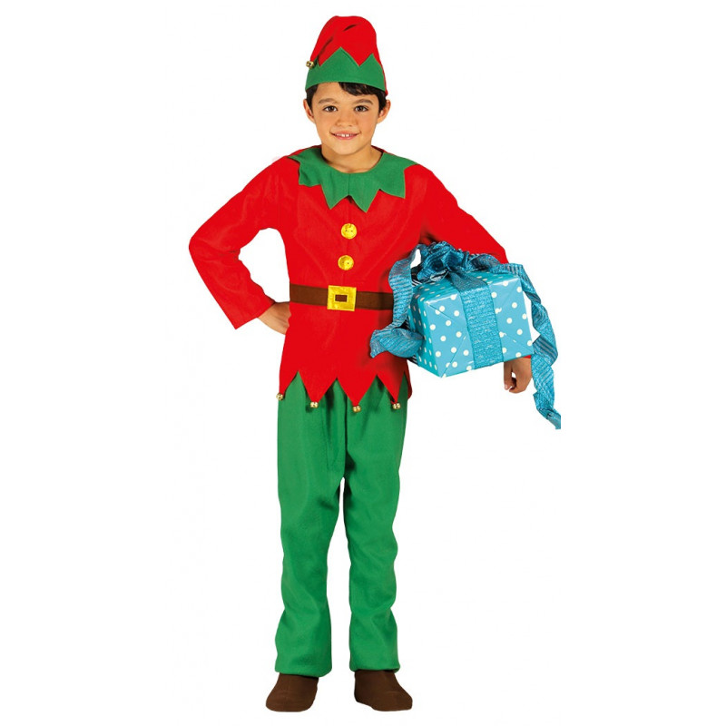 Disfraz de elfo navide o para ni o comprar online - Traje de duende para nino ...