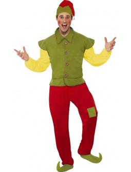 Disfraz de Elfo Navideño Retro para Hombre