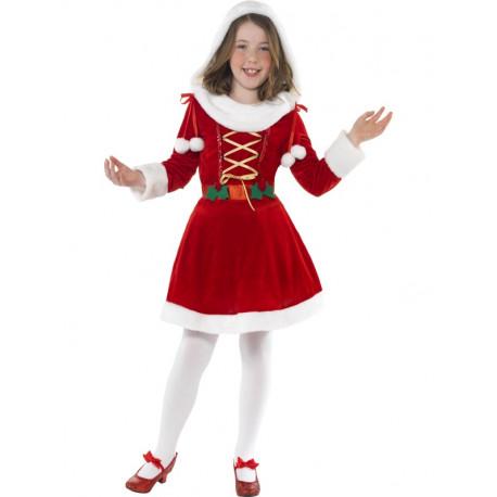 Disfraz de Mamá Noel Elegante para Niña