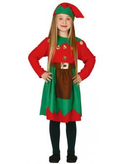 Disfraz de Elfa Navideña para Niña