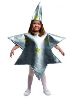 Disfraz de Estrella Plateada de Navidad Infantil